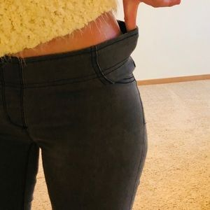 Like New! Dove Grey Stretch pull up Flare Jean